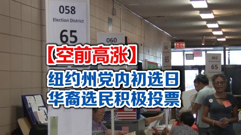 纽约州党内初选 华裔选民投票热情空前高涨