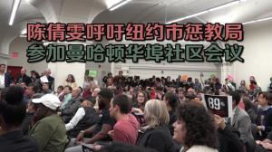 陈倩雯呼吁纽约市惩教局 参加曼哈顿华埠社区会议