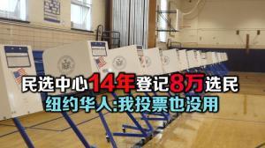 民选中心14年登记8万选民 纽约华人:我投票也没用