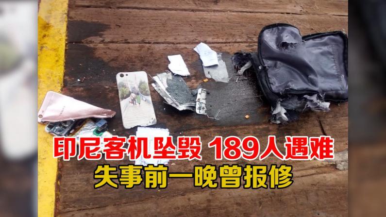 印尼客机坠毁 189人遇难 失事前一晚曾报修