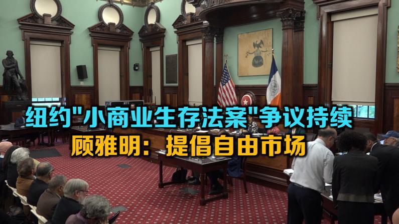纽约小商业生存法案争议持续 顾雅明:提倡自由市场