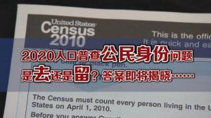 2020人口普查新增公民身份问题  诉讼案纽约南区联邦法院今开审