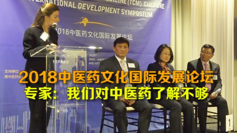 2018中医药文化国际发展论坛 专家:我们对中医药了解不够