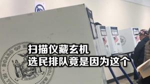 投票机卡纸故障 纽约选民投票排起长队