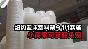 纽约泡沫塑料禁令1/1实施 小商家可获豁免期