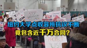 纽约大学点收容所抗议不断 竟包含近千万合同?