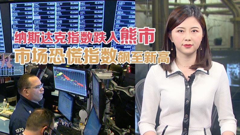 纳斯达克指数步入熊市 市场恐慌指数飙至新高