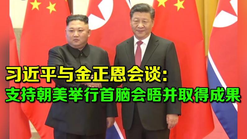 习近平与金正恩会谈: 支持朝美举行首脑会晤并取得成果