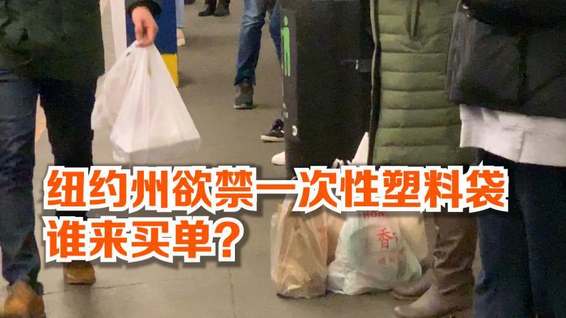 纽约州欲禁一次性塑料袋 谁来买单?