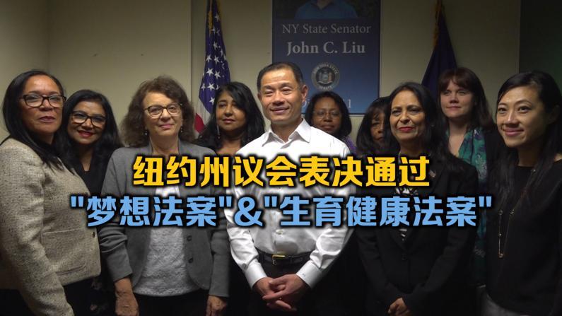 纽约州议会表决通过 梦想法案&生育健康法案