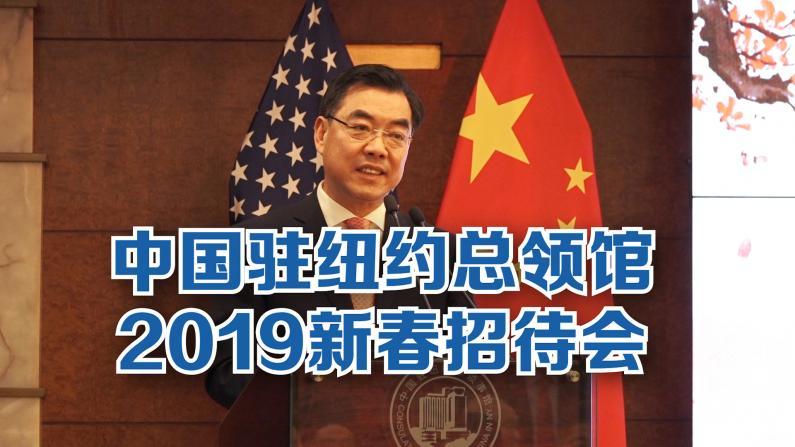 中国驻纽约总领馆举办2019新春招待会