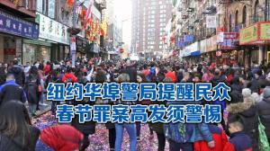 纽约市警5分局局长提醒 新春佳节到 注意防范盗窃