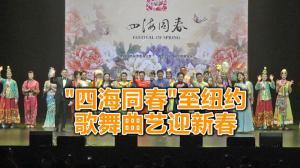 """2019""""四海同春""""新春晚会亮相纽约曼哈顿"""