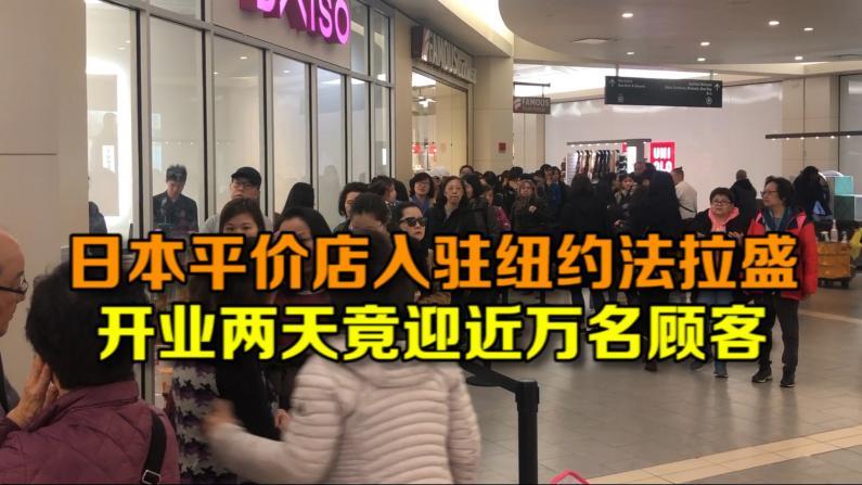 日本平价店入驻纽约法拉盛 开业两天竟迎近万名顾客