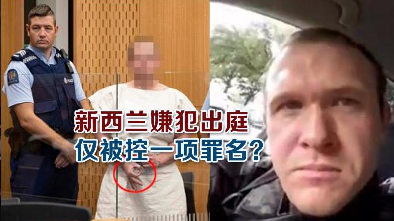 新西兰嫌犯出庭 仅被控一项罪名?