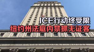 ICE行动终受限 纽约州法庭内禁抓无证客