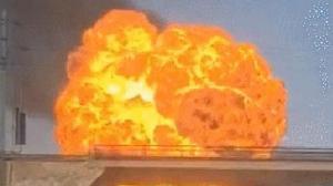 陕西榆林发生一起爆炸事故 现场燃起巨大火球