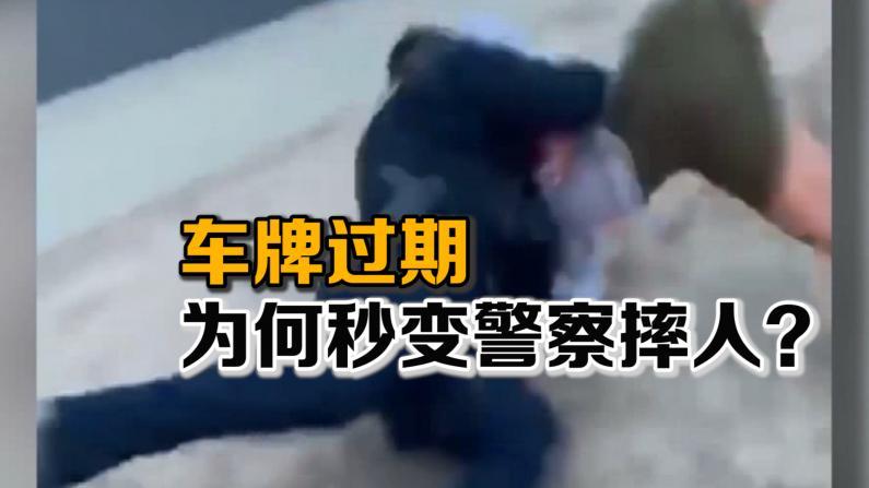 车牌过期 为何秒变警察摔人?
