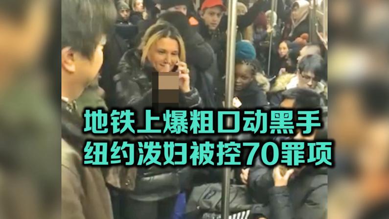 地铁上爆粗口下黑手 纽约泼妇被控70罪项