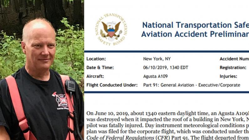纽约直升机坠楼初步报告 飞行员:不知身在何处