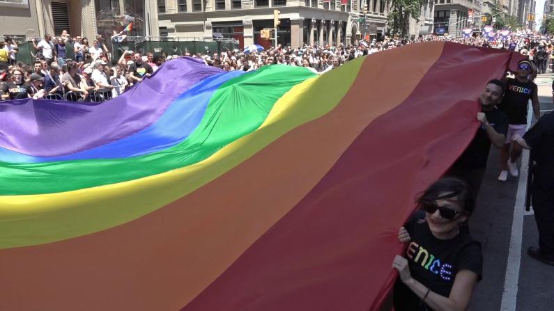 彩虹色5大道 纽约同性恋骄傲大游行