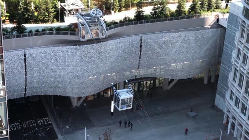 """$22亿旧金山运输中心重开 """"贡多拉""""连接空中美景"""