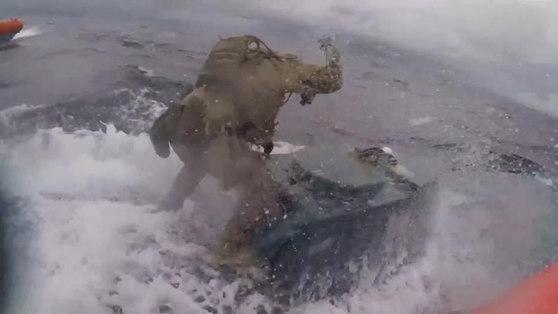 缴获$2.32亿可卡因 海岸警卫队公开水上缉毒现场