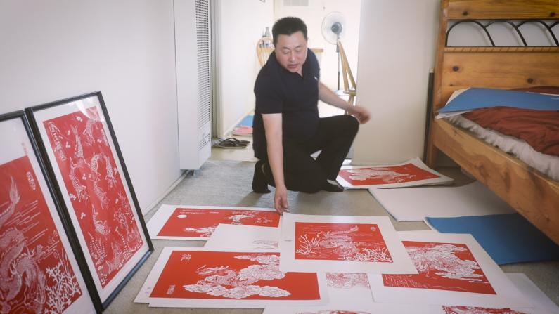 山东汉子的柔情 妙手剪纸洛城传承