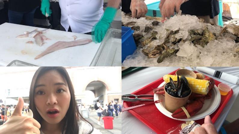 吃播波士顿海鲜节 牡蛎繁殖讲究多
