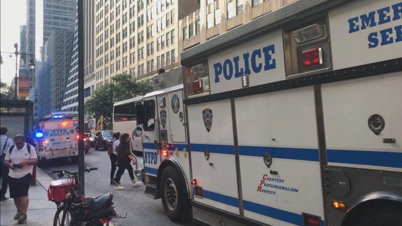 纽约7号线5大道撞死人 地铁站拥挤混乱
