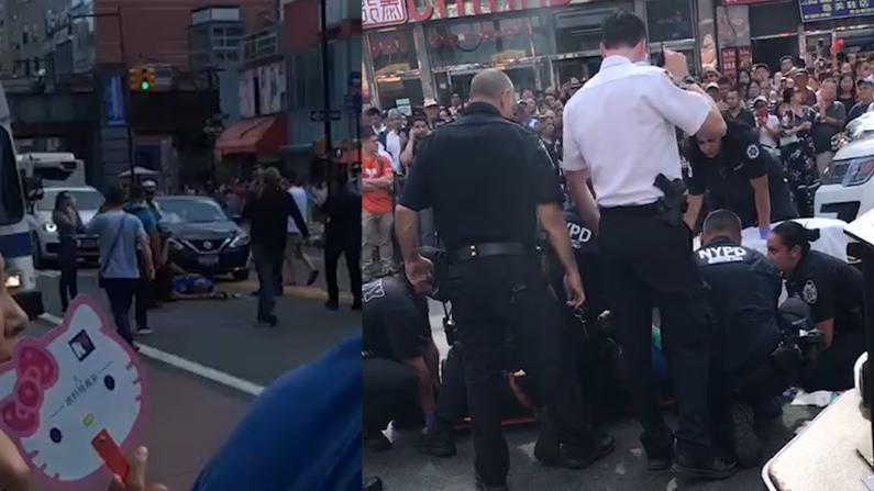 """""""我听到巨响看到他很痛苦"""" 纽约109警员法拉盛追捕受伤"""