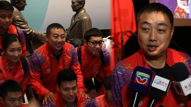 """中国国家乒乓球队现身洛杉矶 """"那个不懂球的胖子""""带来什么惊喜?"""