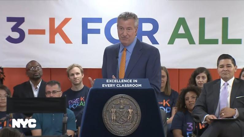 纽约市长质疑天才班意义 4岁准备考试是否合理?