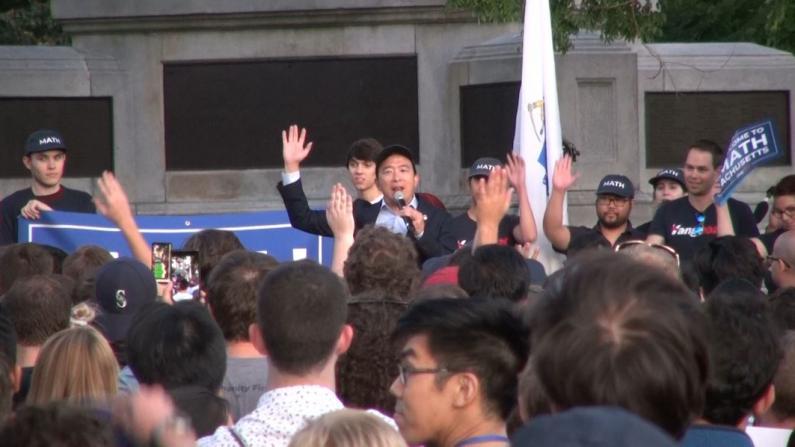 争取年轻人选票 杨安泽哈佛旁造势