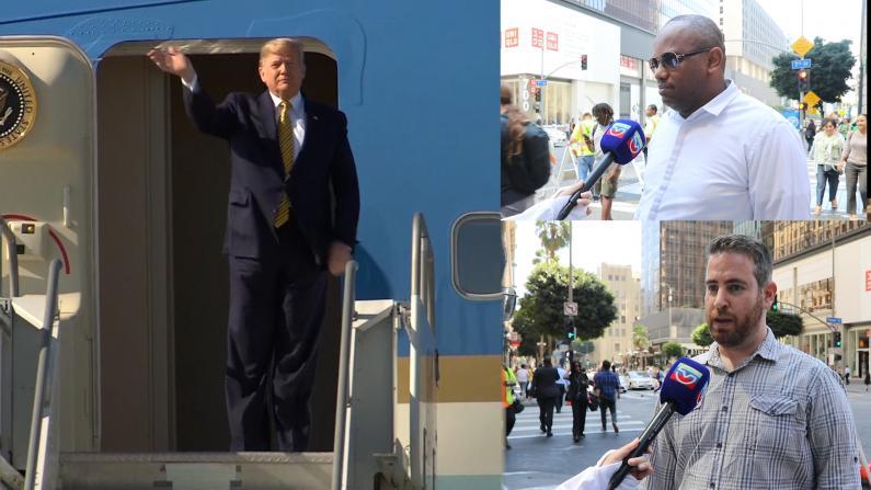 川普访洛杉矶预计募款1500万 欲解决游民问题?