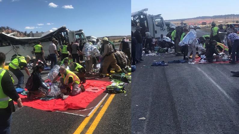 突发!华人旅游大巴犹他州严重车祸 4人死亡多人受伤