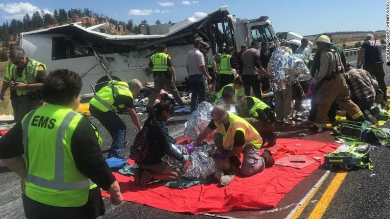 载华人游客大巴犹他遇车祸 至少4人死亡