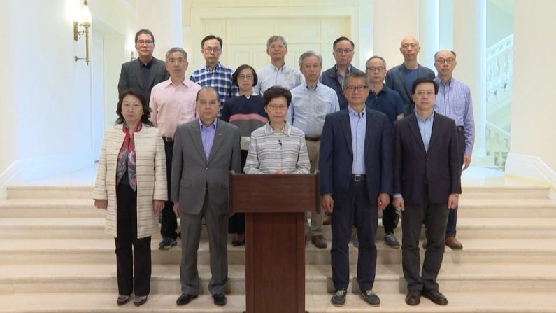 林郑月娥电视讲话:暴徒极端行为令香港度过黑暗一夜