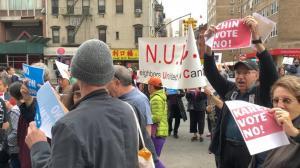 纽约市五区大游行反对社区监狱计划