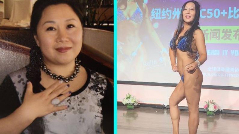 减重50磅比基尼夺冠 51岁胖子的魔鬼训练