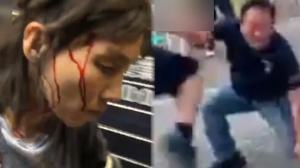 香港暴徒对市民施私刑