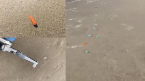 洛杉矶海滩惊现百个医用针头 安全部门封锁现场调查原因