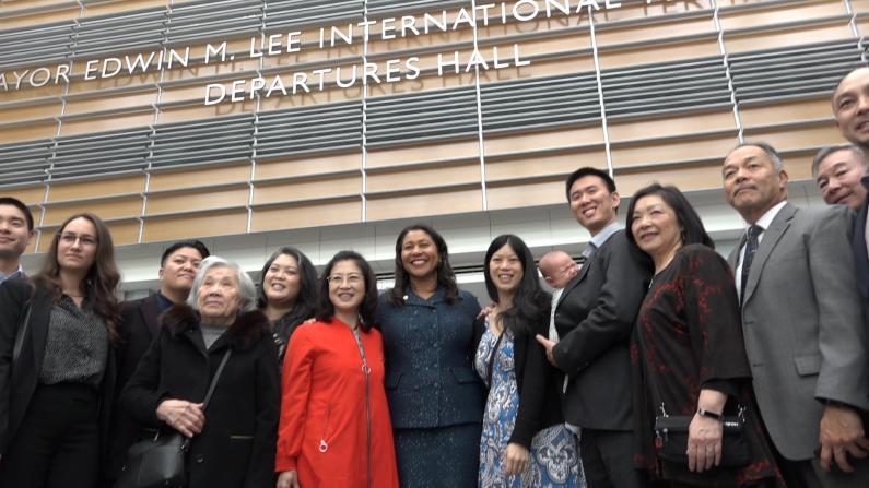 李孟贤航站楼揭幕 市长布里德:多希望他能看到今天的旧金山