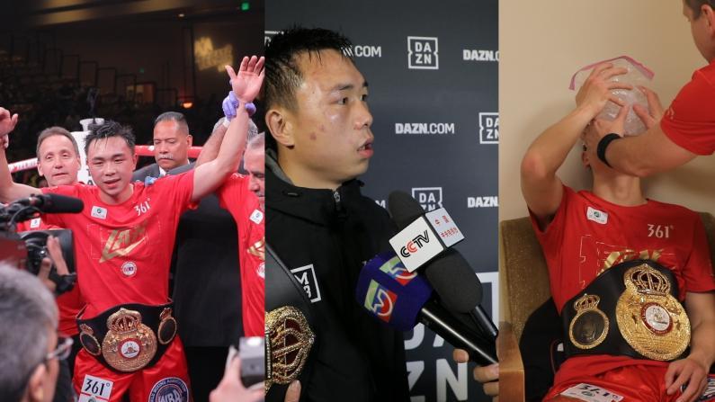中国拳击手徐灿卫冕金腰带的前后一小时