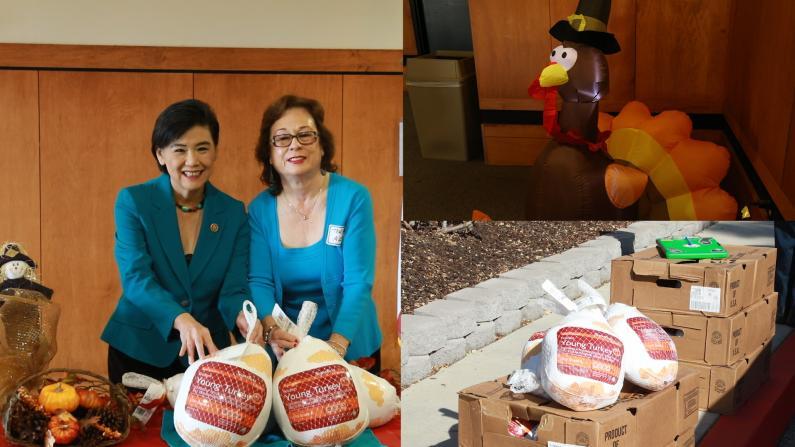 感恩节将至 国会议员赵美心携20家非盈利组织暖心送火鸡