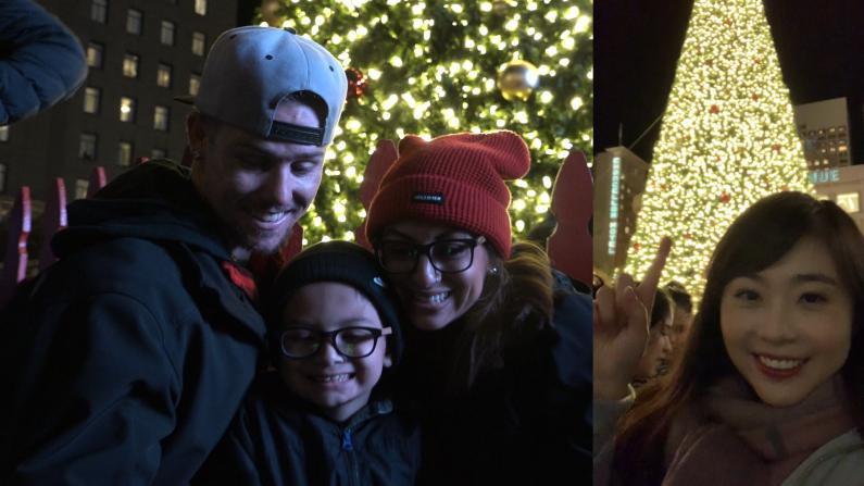 超温馨!旧金山联合广场圣诞树点亮