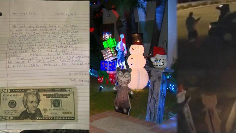 小偷猖獗盗走圣诞灯饰 邻家男孩暖心捐款延续节日传统
