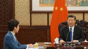 习近平会见林郑月娥:共同推动香港发展重回正轨