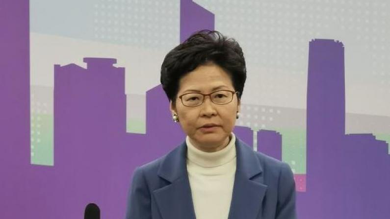 林郑月娥:首要任务是遏止暴力 让香港尽早恢复平静