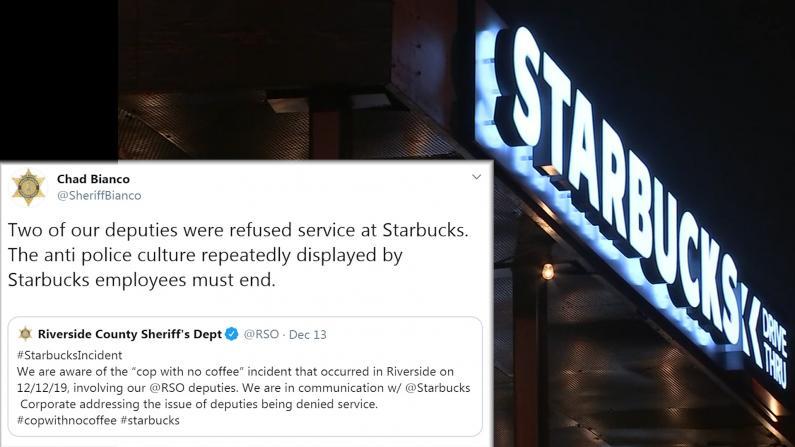 """星巴克再道歉 一年涉三次""""反警察""""事件?!"""